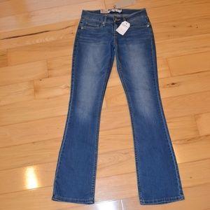 Levis 524 bootcut jeans sz 0 new ultra low rise